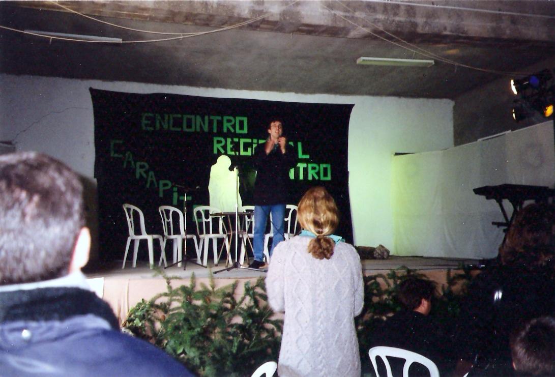 Encontro Regional Centro JMV em Carapito, em 2001.