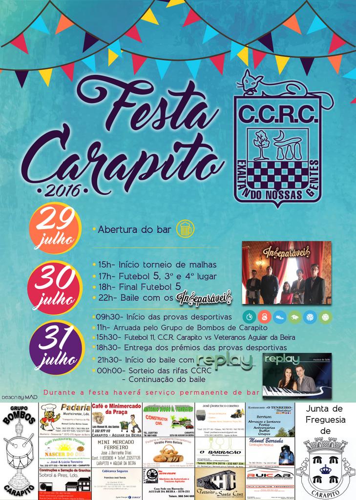 Cartaz Festa CCRC 2016