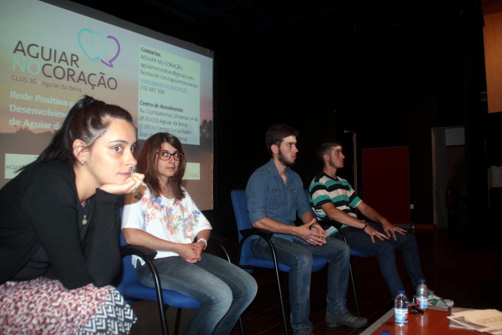 Nádia, Mariline, Ricardo e Rui realçaram a importância que o Orienta-te tem tido na contrução dos seus projetos (foto CLDS 3G Aguiar da Beira).