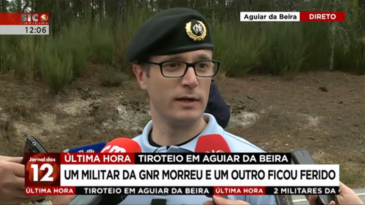Major Pedro Gonçalves em declarações às televisões (SIC Notícias).