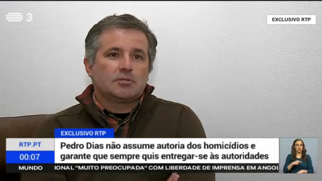 Pedro Dias em entrevista à RTP.